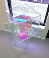 Plexi glass, radiant plexi glass 41 x 41 x 41 cm