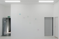 Rotation glass diamonds, LED light