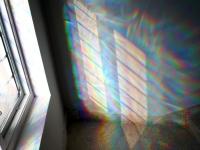 150 x 180 cm. Diffraction foil on window